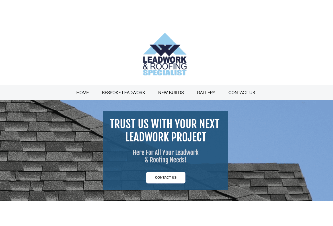 AW Leadwork & Roofing Website Design