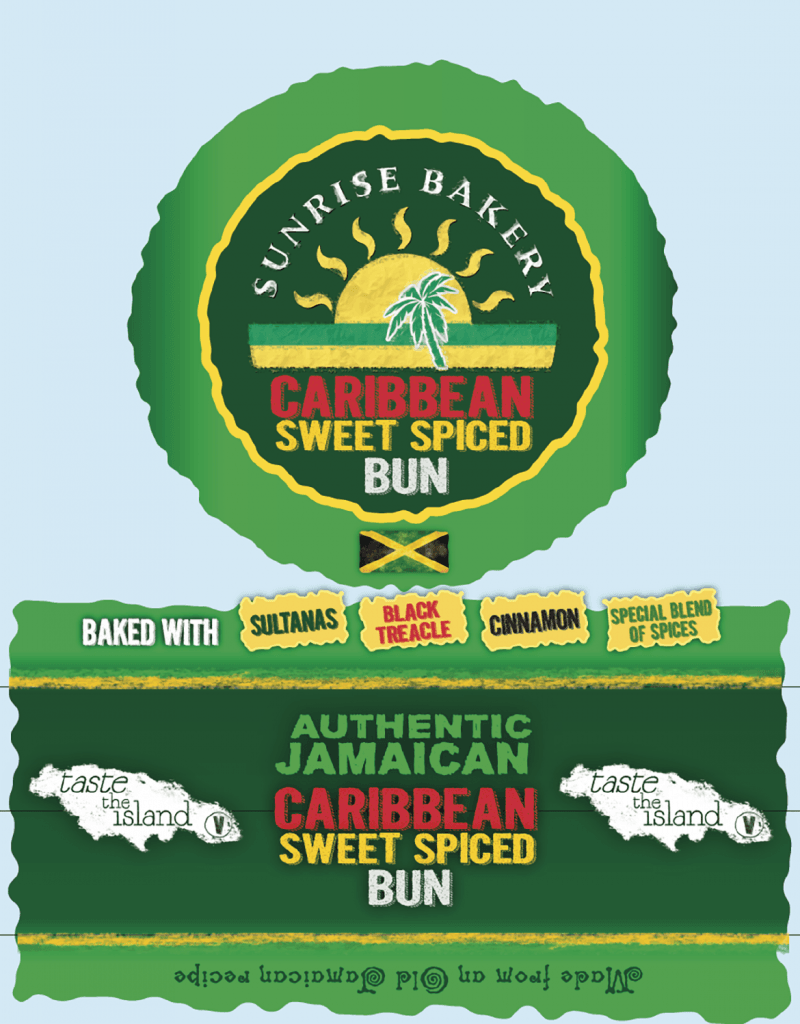 Caribbean Sweet Spiced Bun Design