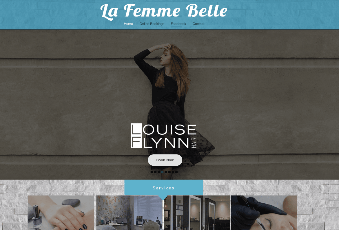 La Femme Belle Website Design