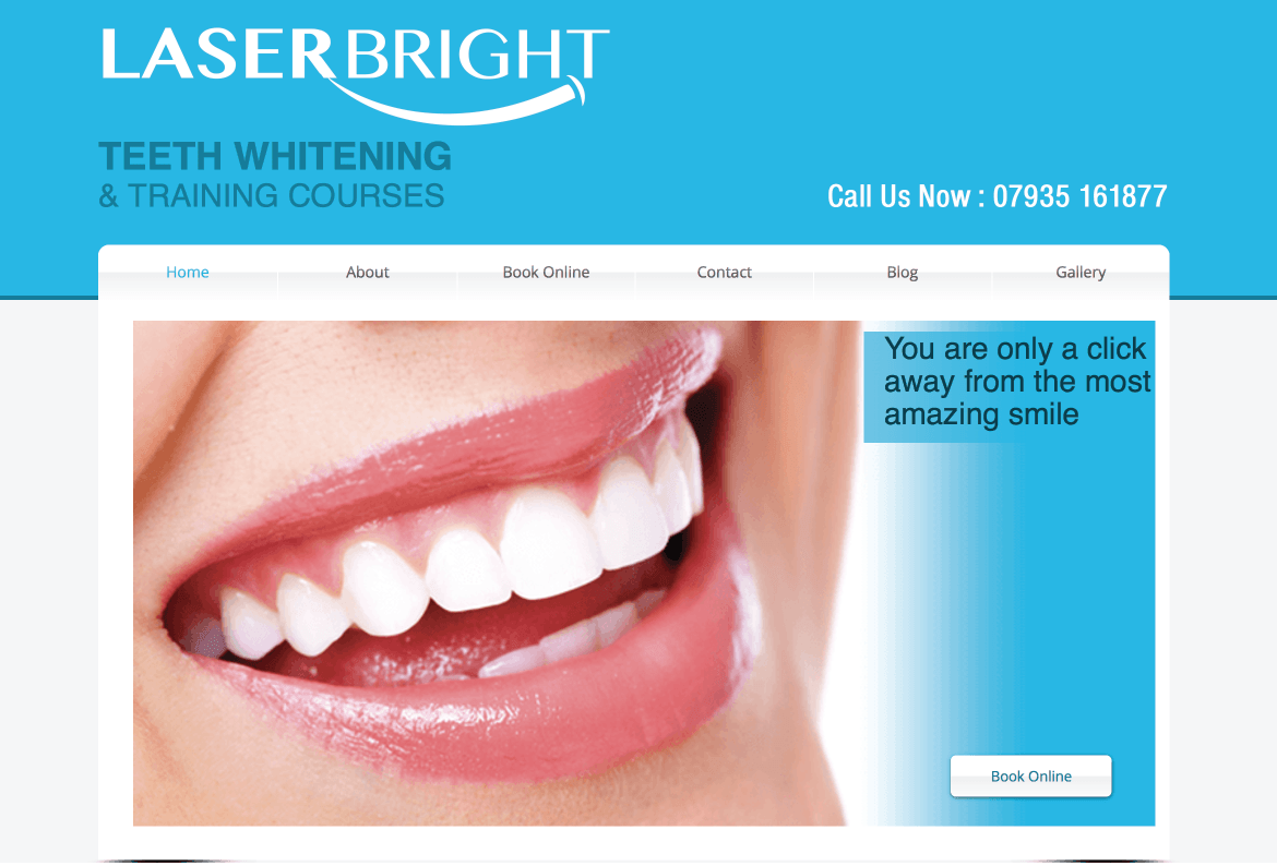 Laser Bright Website Design