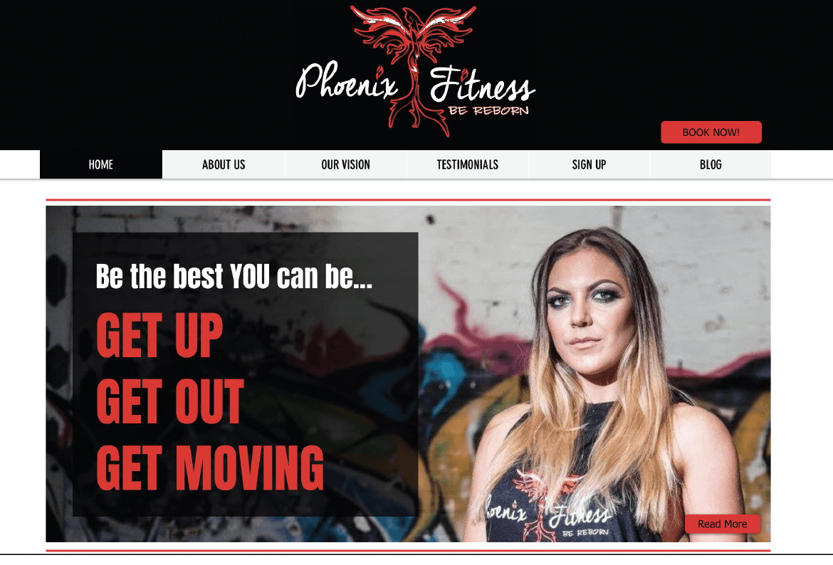 Phoenix Fitness Website Design