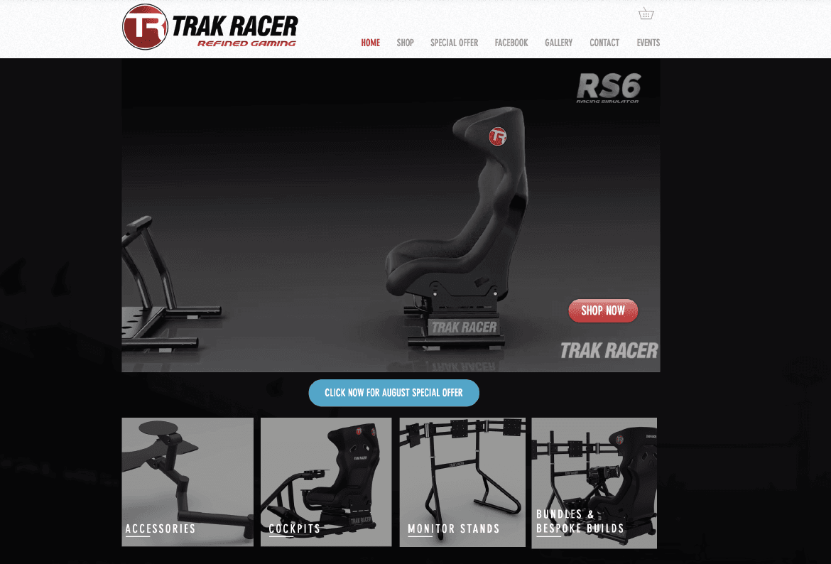 Trakracer UK Website Design Leicester
