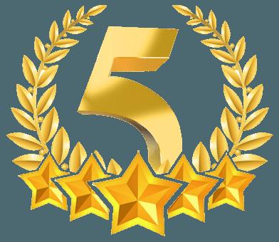 5 Stars Gold Award Image