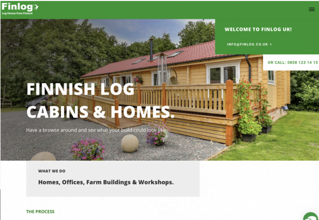 Finlog Leicester Home Page Design